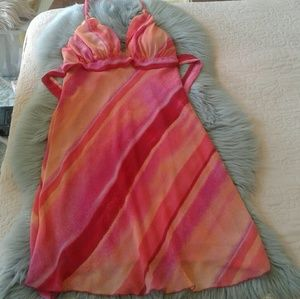 Strapless lined dress